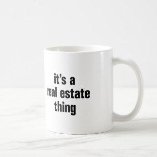 su una cosa de las propiedades inmobiliarias taza clásica