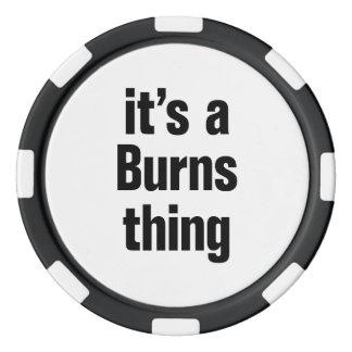 su una cosa de las quemaduras fichas de póquer