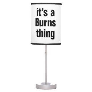 su una cosa de las quemaduras lámpara de escritorio