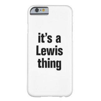 su una cosa de Lewis Funda Para iPhone 6 Barely There