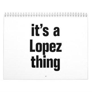 su una cosa de López Calendarios De Pared