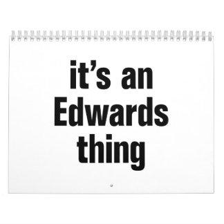 su una cosa de los edwards calendario de pared