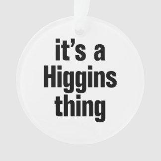su una cosa de los higgins