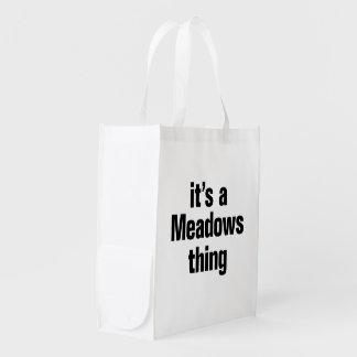 su una cosa de los prados bolsas de la compra