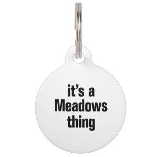 su una cosa de los prados placas para mascotas