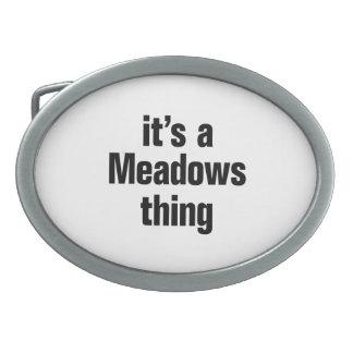 su una cosa de los prados hebillas de cinturón ovales