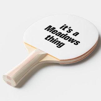 su una cosa de los prados pala de tenis de mesa