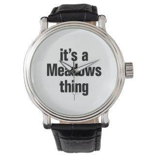 su una cosa de los prados reloj