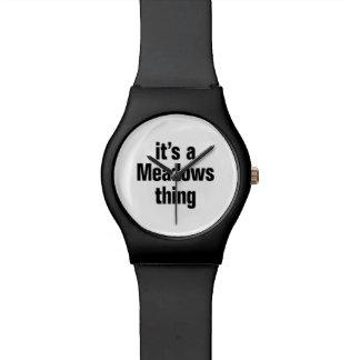 su una cosa de los prados relojes de pulsera