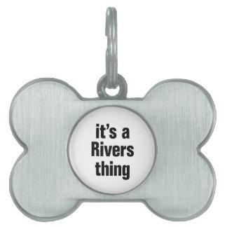 su una cosa de los ríos placa de nombre de mascota