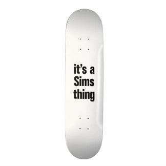 su una cosa de los sims tablas de skate