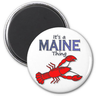 Su una cosa de Maine - langosta Imán Redondo 5 Cm