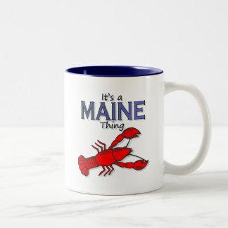 Su una cosa de Maine - langosta Taza De Dos Tonos