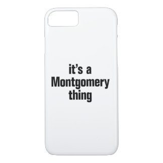 su una cosa de Montgomery Funda iPhone 7