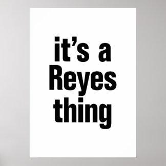 su una cosa de Reyes Póster