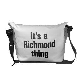 su una cosa de Richmond Bolsas De Mensajería