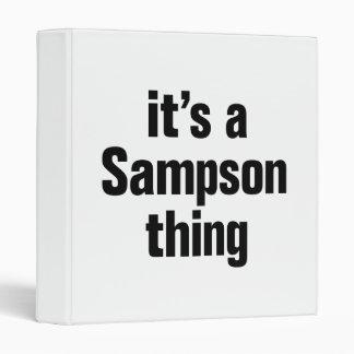 su una cosa de sampson carpeta 2,5 cm