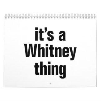su una cosa de whitney calendarios de pared
