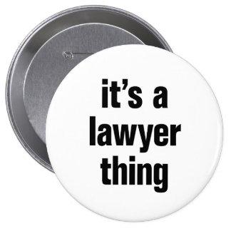 su una cosa del abogado chapa redonda 10 cm