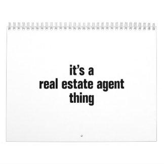 su una cosa del agente inmobiliario calendarios de pared
