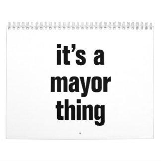 su una cosa del alcalde calendarios de pared