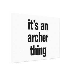 su una cosa del archer impresión en lona
