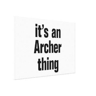 su una cosa del archer lona estirada galerías