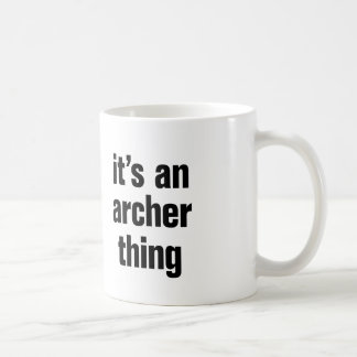 su una cosa del archer taza clásica