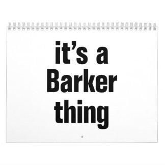 su una cosa del barker calendarios de pared
