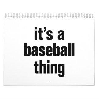 su una cosa del béisbol calendario de pared