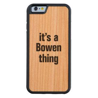 su una cosa del bowen funda de iPhone 6 bumper cerezo