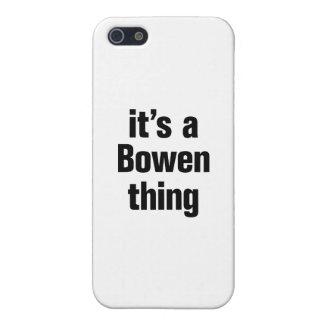 su una cosa del bowen iPhone 5 carcasas