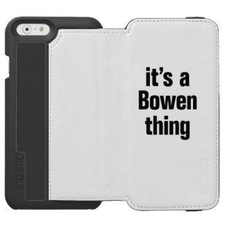 su una cosa del bowen funda cartera para iPhone 6 watson