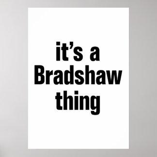 su una cosa del bradshaw póster