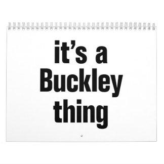 su una cosa del buckley calendario de pared