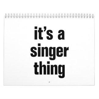 su una cosa del cantante calendario de pared