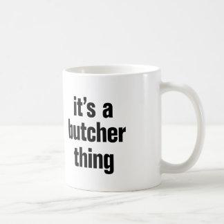 su una cosa del carnicero taza de café