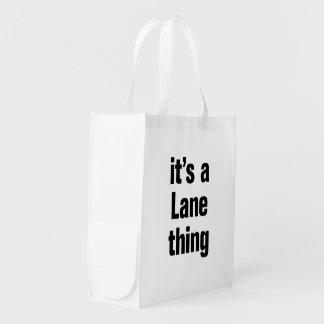su una cosa del carril bolsa reutilizable
