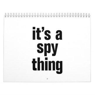 su una cosa del espía calendario
