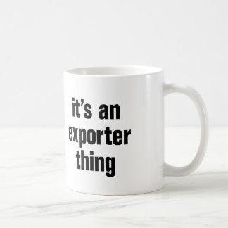 su una cosa del exportador taza clásica
