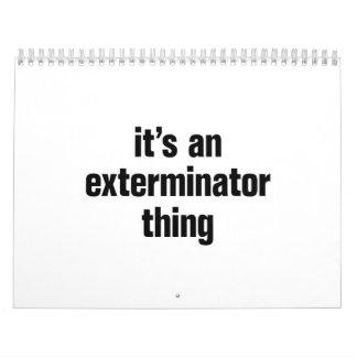 su una cosa del exterminator calendarios