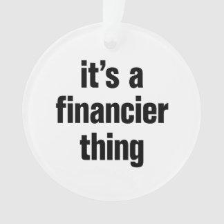 su una cosa del financiero