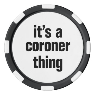 su una cosa del forense fichas de póquer