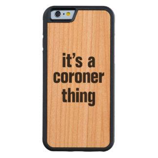 su una cosa del forense funda de iPhone 6 bumper cerezo
