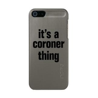 su una cosa del forense funda para iPhone 5 incipio feather shine