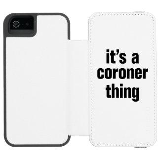 su una cosa del forense funda cartera para iPhone 5 watson