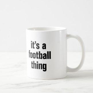 su una cosa del fútbol taza