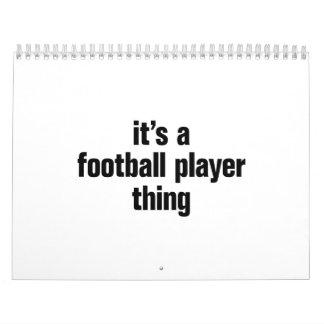su una cosa del futbolista calendario de pared