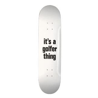 su una cosa del golfista tablas de skate