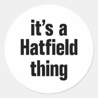 su una cosa del hatfield pegatina redonda